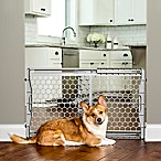 Carlson 23-Inch Plastic Expandable Pet Gate in Grey