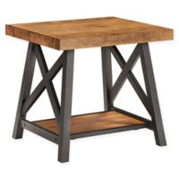 iNSPIRE Q® Beaumont Rustic X-Base End Table in Oak