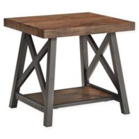 iNSPIRE Q® Beaumont Rustic X-Base End Table in Brown