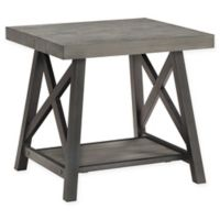 iNSPIRE Q® Beaumont Rustic X-Base End Table in Grey