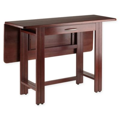 winsome taylor drop leaf dining table with walnut finish - Dining Table Leaf