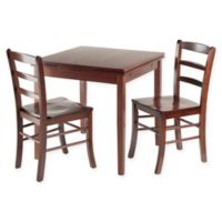Winsome Pulman 3-Piece Dining Set with Walnut Finish