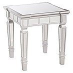 Southern Enterprises Glenview Glam Mirrored End Table in Matte Silver
