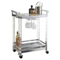 Steve Silver Co. Aerin Metal Serving Cart in Chrome