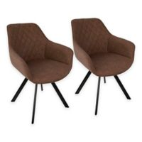 LumiSource Outlaw Dining Chairs in Brown/Black (Set of 2)