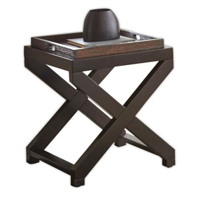 Alanis Square End Table With Tray