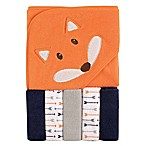 Luvable Friends® Fox Hooded Towel and Washcloth Set in Orange