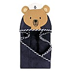 Hudson Baby® Sailor Bear Hooded Towel in Brown