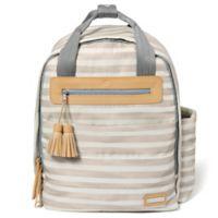 SKIP*HOP® Riverside Ultra Light Backpack Diaper Bag in Oyster Stripe