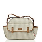 BabyMel™ Molly Satchel Diaper Bag in Grey Stripe
