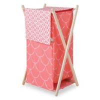 Trend Lab® Shell Hamper/Laundry Basket in Coral