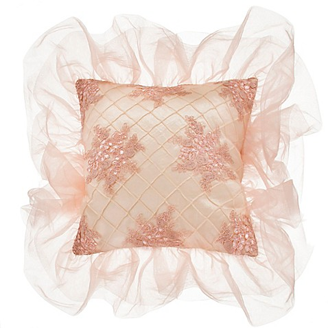 Glenna Jean Remember My Love Pintuck Square Throw Pillow in Cream - Bed Bath & Beyond