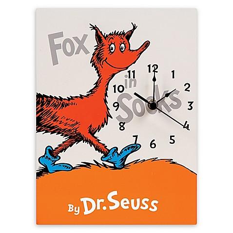 Trend Lab 174 Dr Seuss Fox In Socks Wall Clock Buybuy Baby