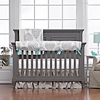 Liz and Roo Harper 3-Piece Crib Bedding Set in Taupe/Aqua