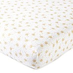 Levtex Baby Dandelion Fitted Crib Sheet in Gold/White