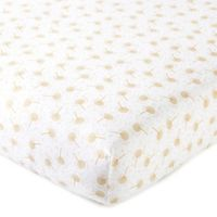 Levtex Baby® Dandelion Fitted Crib Sheet in Gold/White