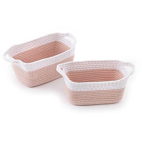 Levtex Baby Dandelion Crib Bedding Collection Rope Storage Baskets Set Of