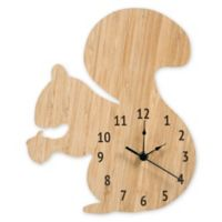 Trend Lab® Forest Tales Bamboo Squirrel Wall Clock in Tan