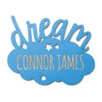 Dream Cloud Wood Plaque in Blue