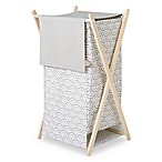 Trend Lab® Art Deco Hamper/Laundry Basket in Grey