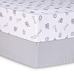 Trend Lab® Safari and Dot Fitted Crib Sheets (Set of 2)