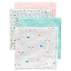 carter's® 4-Pack Heart Elephant Receiving Blankets in Teal/Pink