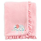 carter's® Floral Elephant Plush Blanket in Pink