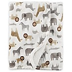 carter's® Safari Print Plush Blanket in White/Grey