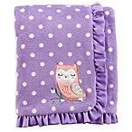 carter's® Polka Dot Plush Blanket in Purple/White