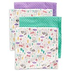 carter's® 4-Pack Animal Dot Receiving Blankets in Teal/Purple