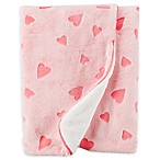 carter's® Heart Plush Blanket in Pink