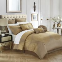 Chic Home Lira 9-Piece King Comforter Set in Gold