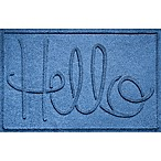 "Weather Guard™ ""Hello"" 24-Inch x 36-Inch Door Mat in Blue"