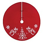 C&F Enterprises Nordic Holiday Tree Skirt in Red/White