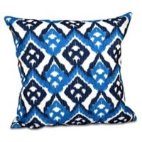 E by Design Hipster Geometric Print Square Throw Pillow in Blue