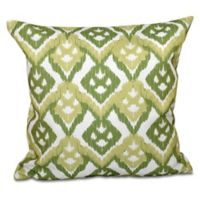 E by Design Hipster Geometric Print Square Throw Pillow in Green