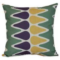 E by Design Multicolored Picks Geometric Throw Pillow in Green
