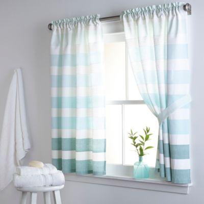 DKNY Highline Stripe 38 Inch X 45 Cotton Window Curtain Panel Pair