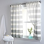DKNY Highline Stripe 38-Inch x 45-Inch Cotton Window Curtain Panel Pair in Grey