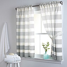 DKNY Highline Stripe 38 Inch X 45 Inch Cotton Window Curtain Panel Pair