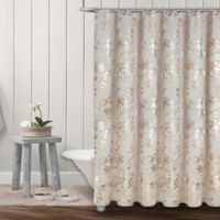 Colordrift Wildflower 72-Inch x 72-Inch Shower Curtain in Gold