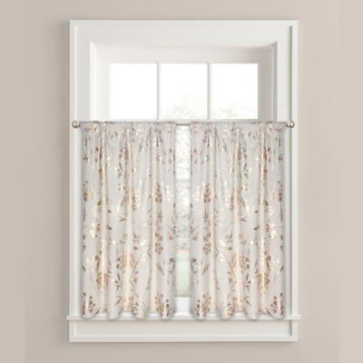 Colordrift Wildflower Window Curtain In Gold