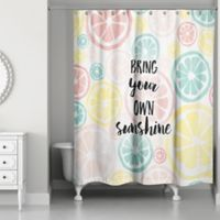 Designs Direct 71-Inch x 74-Inch Own Sunshine Shower Curtain in Pink
