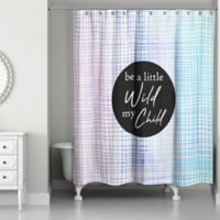 Designs Direct 71-Inch x 74-Inch Be A Little Wild Shower Curtain in Purple