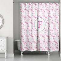 Designs Direct 71 Inch X 74 Flamingo Squad Shower Curtain In Pink