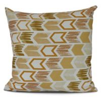 Geometric Arrow Square Throw Pillow in Gold