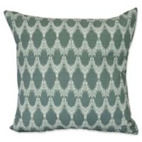 E by Design Peace 2 Geometric Throw Pillow in Green