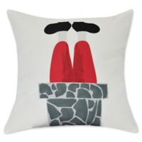 Away He Goes Square Throw Pillow in Grey