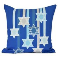 E by Design Shooting Stars Geometric Throw Pillow in Royal Blue