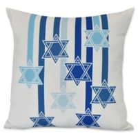 E by Design Shooting Stars Geometric Throw Pillow in White